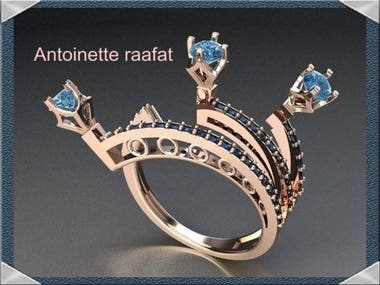 Jewelry Designer 3d cad Diamond & gold