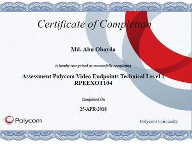 Polycom Certificate