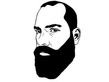 Turn Face Pic into Cartoonish B&W Icon