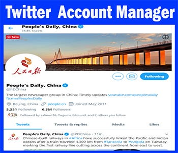 Twitter Account Manager