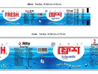 Fresh water label design