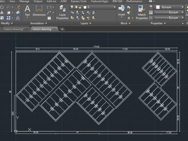 2d layout in autoCAD.