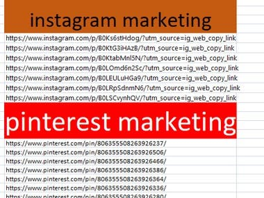 Inatagram and Pinterest markeitng