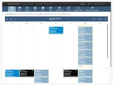 Calendario con Agenda de Servicios