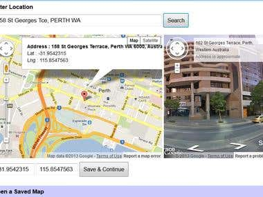 Google Map App in Web
