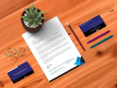 Letterhead & Business Card design