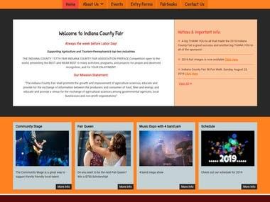 County Fair Website Design