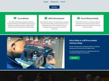 College/Education Website Design