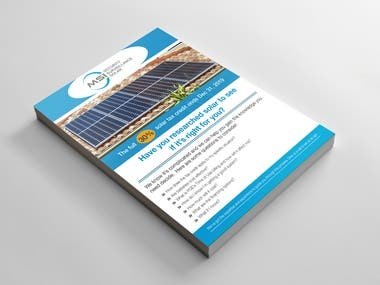 Solar Product Promotional 2 pages Flyer Template