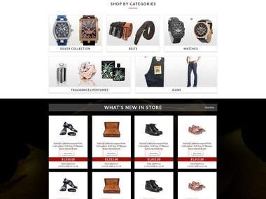 ebay Store Landing page