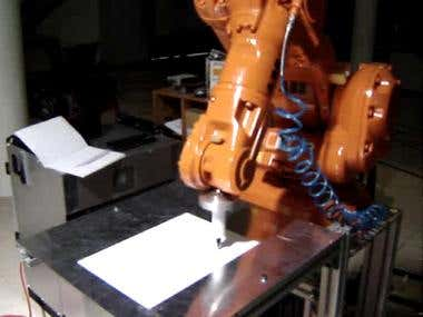 abb robots in action afther use my program done in IST