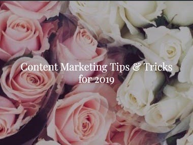 Blog Post #5 (Content Marketing Tips)