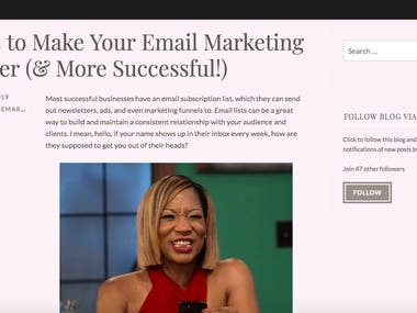 Blog Post #8 (Email Marketing Tips)