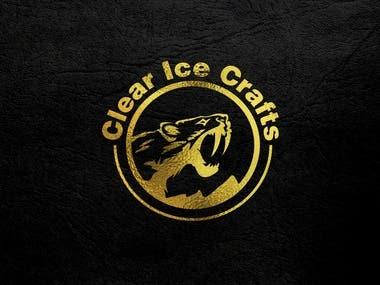 Clear ice craft logo