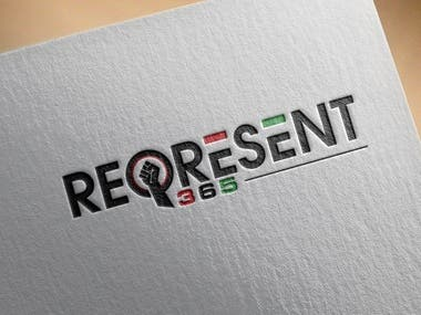 Represent 365 Logo design