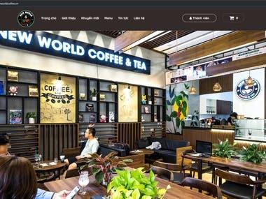 Website Newworldcoffee.vn