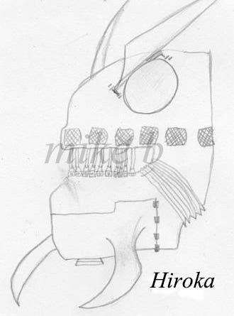 Hiroka - robot head, character design