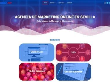 Diseño de web corporativa para agencia