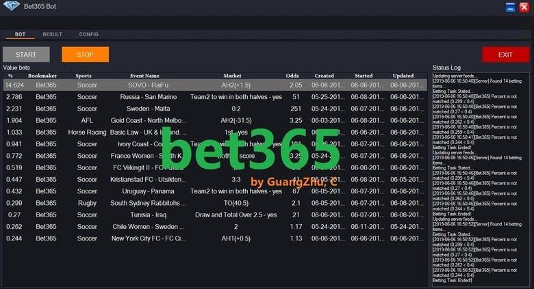 Sports Betting Bot(bet365,betfair   )   Freelancer