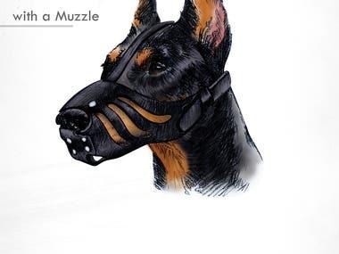 Dobermann Digital Illustration