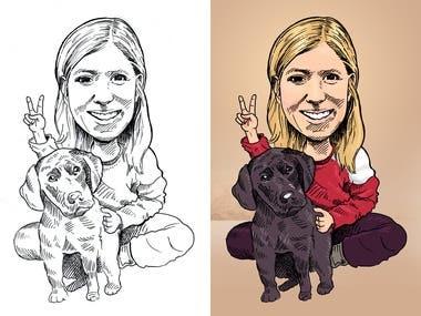 Lara Caricature