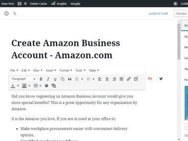 Wordpress Data Entry