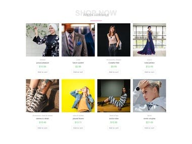 Outfit Store E-commerce WordPress Website