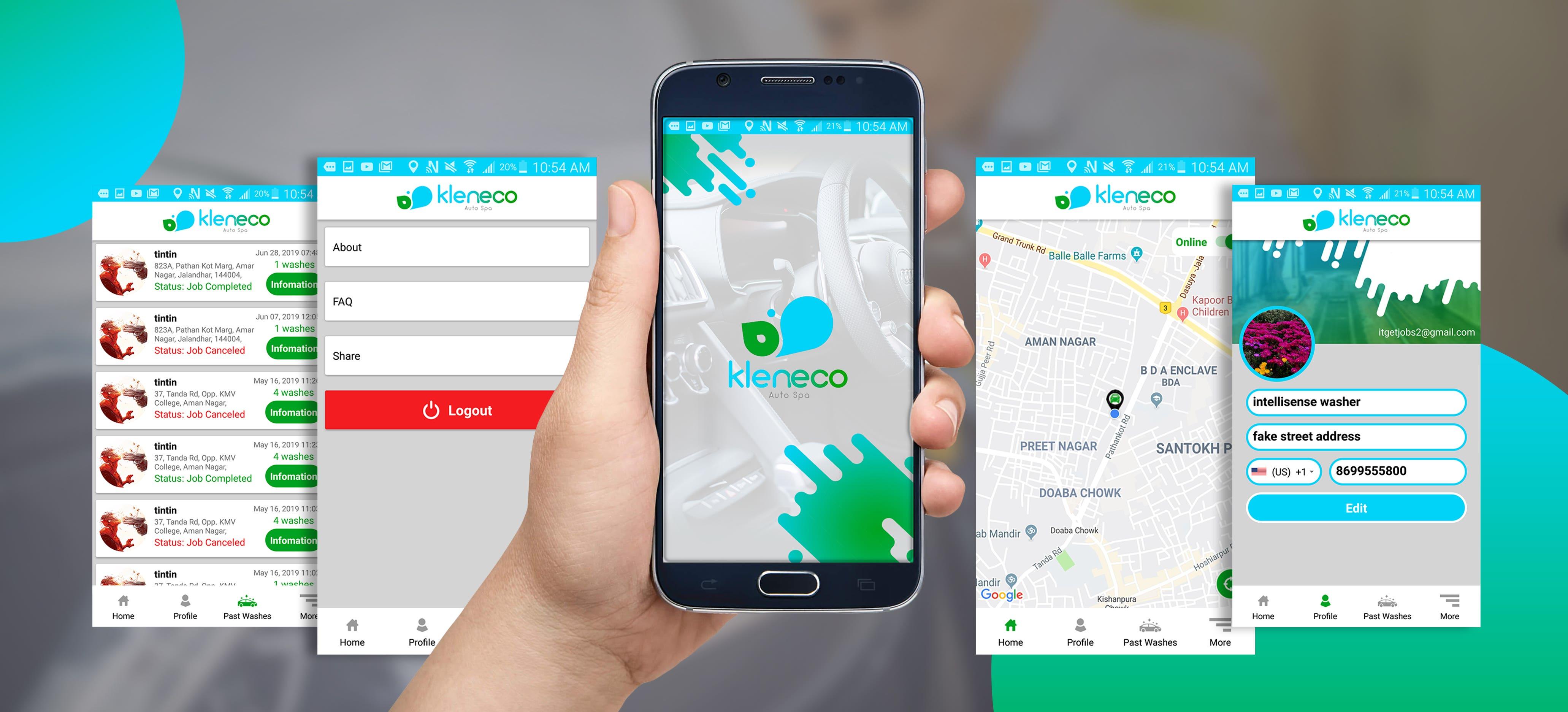 Kleneco - Uber for Car Washing