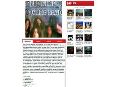 Music-Record-Shop Listing Template