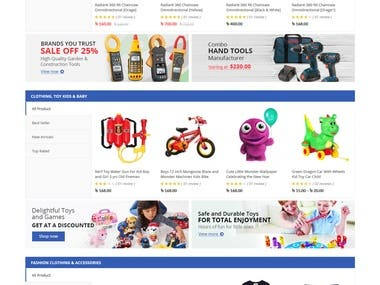 Make a Demo E-Commerce Site for Clients