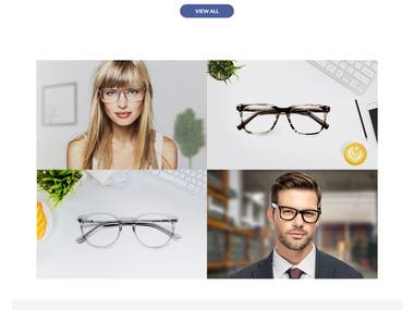 Eye Wear eCommerce Website