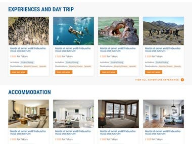 Holidays, Trips And Vacations Website