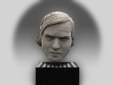 3d portrait of H.R.Giger