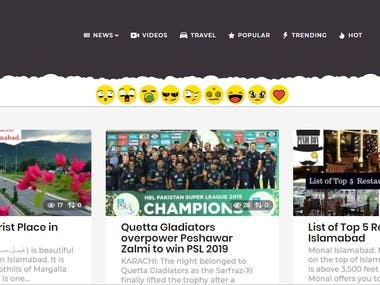News and Entertainment Website