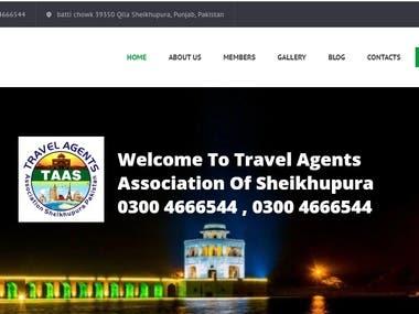 Travel Agents WordPress site