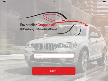 Design a car application for the iPad system