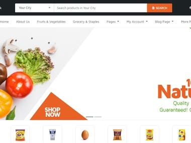 Online Grocery Shopping : Website