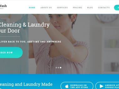 Online Laundry Service : Website