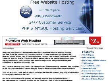 Free Webhosting Service