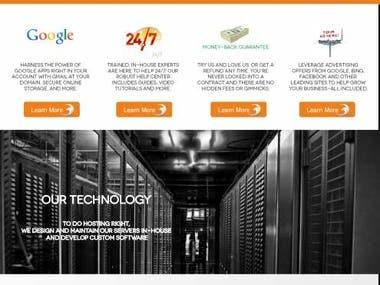 Webhosting company design