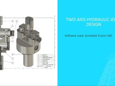 Two axis hydraulic joint created in Fusion 360
