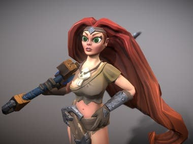 Barbarian Girl Victoria