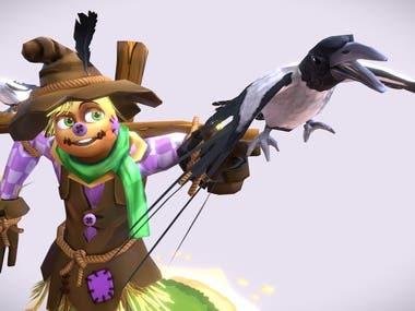 Cartoon Talking Scarecrow