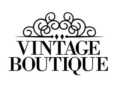 Logo for Vintage Boutique Clothes Brand
