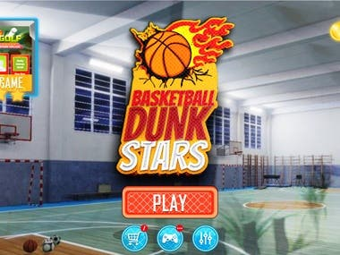 Basketball Game UI/UX Design
