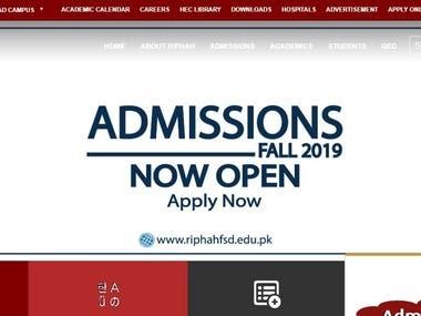 Official Website of University