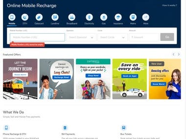 Online Recharge and Shoping Web App