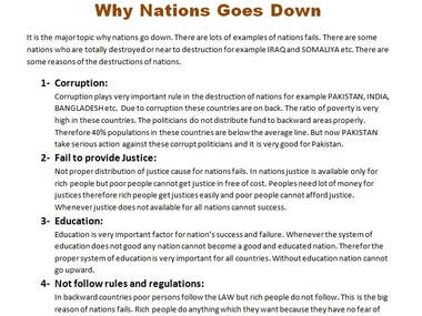 Why Nations Goes Down