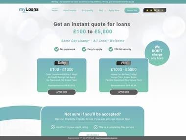 Loan Provider Website with Admin Panel & API