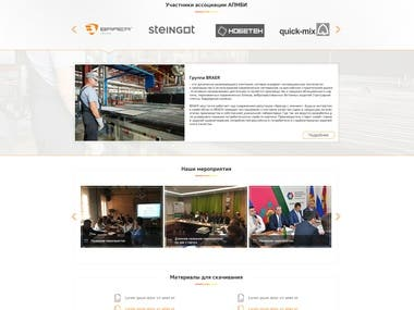 Corporate website + Wordpress
